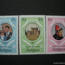 Sellos: ANTIGUA 1981 IVERT 620/2 *** BODA DEL PRINCIPE CRLOS Y LADY DIANA SPENVER - MONARQUIA. Lote 58240429