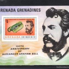 Sellos: GRANADA GRANADINAS HB 25** - AÑO 1976 - CENTENARIO DEL TELEFONO. Lote 60973931