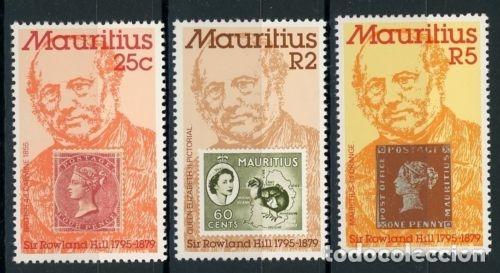 MAURICIO 1979 IVERT 493/5 *** 100º ANIVERSARIO DE LA MUERTE DE SIR ROWLAND HILL (Sellos - Temáticas - Historia)