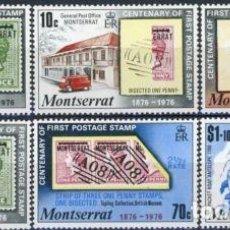 Sellos: MONSERRAT 1976 IVERT 328/33 * CENTENARIO DEL SELLO DE MONSERRAT. Lote 78841949