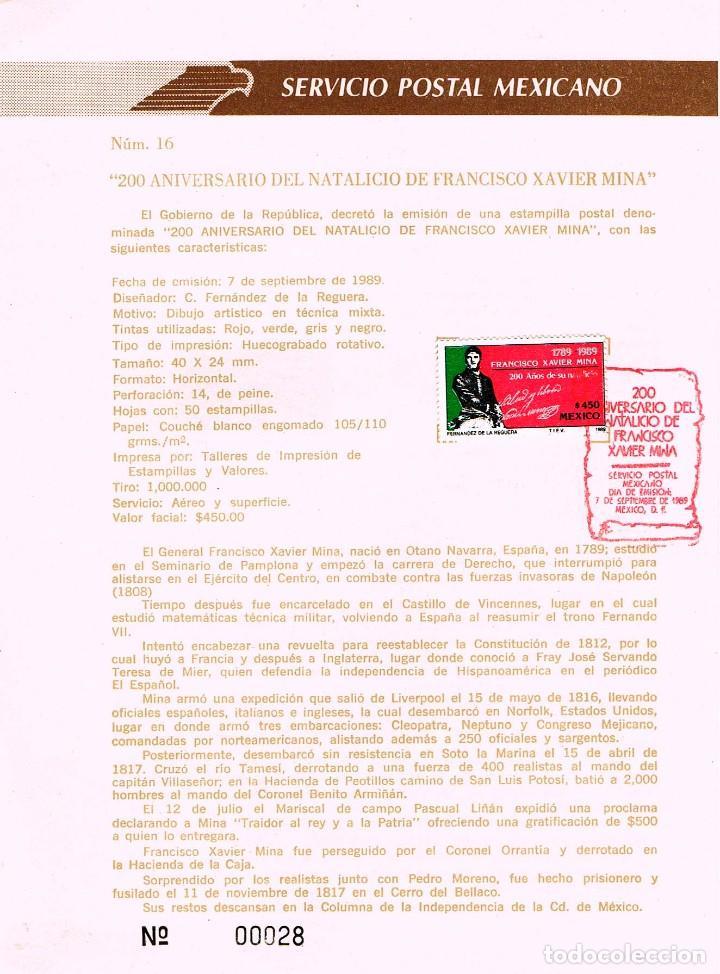 mejico, 2º centenario de francisco xavier mina - Comprar sellos ...