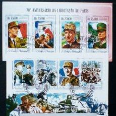 Sellos: II GUERRA MUNDIAL NORMANDIA 3 HOJAS BLOQUE DE SELLOS USADOS RECIENTES AUTÉNTICOS. Lote 95589875