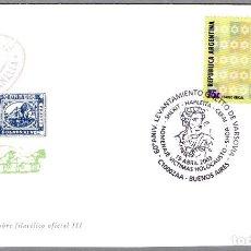 Sellos: MATASELLOS 60 AÑOS LEVANTAMIENTO GHETTO DE VARSOVIA - JUDAISMO. BUENOS AIRES, ARGENTINA, 2003. Lote 176089999