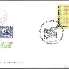 Sellos: MATASELLOS 55 AÑOS DEL ESTADO DE ISRAEL - JUDAISMO. BUENOS AIRES, ARGENTINA, 2003. Lote 176090098