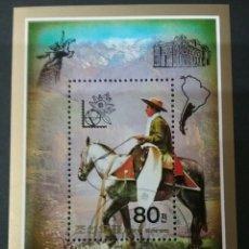 Sellos: HB DE KOREA DEL NORTE MATASELLADA. 1985. CABALLO. ARGENTINA. EXPOSICION FILATELICA. BUENAS AIRES. . Lote 98595983