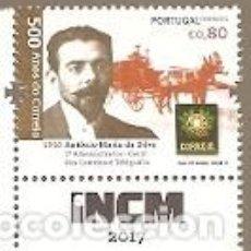 Sellos: PORTUGAL ** & 500 AÑOS DEL CORREO EN PORTUGAL, ANTONIO SILVA, I ADMINISTRACIÓN DE CORREOS 2017 (573. Lote 105896667