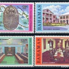 Sellos: BAHAMAS 1979 IVERT 442/5 *** 250º ANIVERSARIO DEL PARLAMENTO. Lote 107030047
