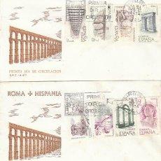Sellos: EDIFIL 2184/91, ROMA-HISPANIAPRIMER DIA DE 25-6-1974 EN DOS SOBRE DEL SFC . Lote 107579955