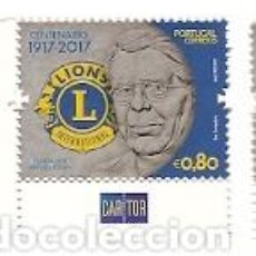 Sellos: PORTUGAL ** & CENTENÁRIO DE ROTARY, LIONS CLUB, FUNDADOR MELVIN JONES, 1917-2017 (688). Lote 109473531