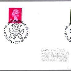 Sellos: MATASELLOS 400 AÑOS ARMADA INVENCIBLE - SPANISH ARMADA - FELIPE II. TILBURY, REINO UNIDO, 1988. Lote 110796603