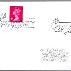Sellos: MATASELLOS 400 AÑOS ARMADA INVENCIBLE - SPANISH ARMADA - FELIPE II. CORNWALL, REINO UNIDO, 1988. Lote 110796703
