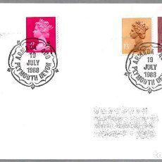 Sellos: MATASELLOS 400 AÑOS ARMADA INVENCIBLE - SPANISH ARMADA - FELIPE II. PLYMOUTH, REINO UNIDO, 1988. Lote 110796911