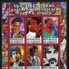 Sellos: DJIBOUTI 2011 *** MÚSICA - GRANDES MÚSICOS AMERICANOS DEL SIGLO XX. Lote 113990791
