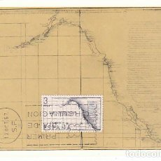 Sellos: EDIFIL 1824, EDIFIL 1824, FORJADORES DE AMERICA, MAPA DE CALIFORNIA, TARJETA MAXIMADE 12-10-1967. Lote 117114772