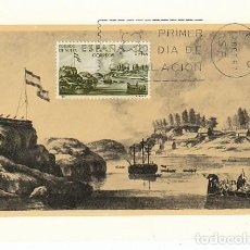 Sellos: EDIFIL 1822, FORJADORES DE AMERICA, POBLADO DE NUTKA, TARJETA MAXIMADE 12-10-1967. Lote 114565519