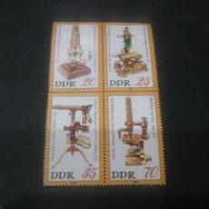 Sellos: SELLOS DE ALEMANIA, R. D. (DDR) NUEVOS. 1980. MICROSCOPIOS. HERRAMIENTAS. OPTICA. LENTES.. Lote 115344291