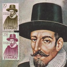Sellos: EDIFIL 1623-3, FRANCISCO DE TOLEDO (FORJADORES DE AMERICA 1964), TARJETA MAXIMA DE 12-10-1964. Lote 118190887