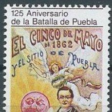 Sellos: AÑO 1987. MÉXICO. YT 1184. MINT. 125 ANIVERSARIO DE LA BATALLA DE PUEBLA. . Lote 118534247