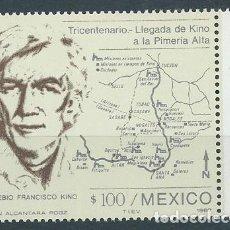 Sellos: AÑO 1987. MÉXICO. YV 1180. MINT. TRICENTENARIO LLEGADA DE KINO A LA PRIMERÍA ALTA.. Lote 118534471