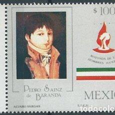 Sellos: AÑO 1987. MÉXICO. SCOTT 1475. MINT. PEDRO SAINZ DE BARANDA, MILITAR, MARINO, POLÍTICO.. Lote 118536431