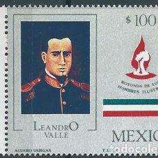 Sellos: AÑO 1987. MÉXICO. SCOTT 1487. MINT. LEANDRO VALLE. MILITAR.. Lote 118536627