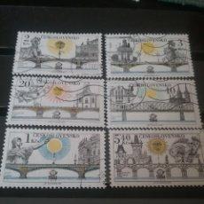 Timbres: SELLOS R. CHECOSLOVAQUIA MTDOS/1978/PUENTES/ESCULTURAS/CASTILLOS/PALACIOS/IGLESIAS/ARTE/ARQUITECTUR. Lote 123210471