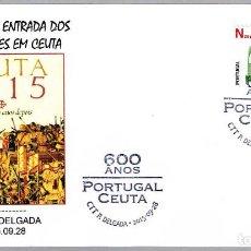 Sellos: MATASELLOS 600 AÑOS ENTRADA DE LOS PORTUGUESES EN CEUTA. PONTA DELGADA, PORTUGAL, 2015. Lote 124212611