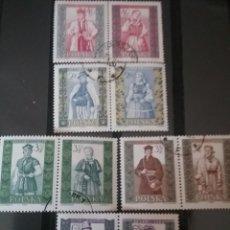 Sellos: SELLOS DE POLONIA (POLSKA) MATASELLADOS. 1960. TRAJES TIPICOS. CONSTUMBRES. FOLKLORE. VESTIDOS TIPIC. Lote 124922662