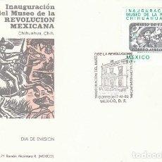 Sellos: MEJICO IVERT 997, INAUGURACIÓN MUSEO DE LA REVOLUCIÓN MEJICANA EN CHIHUAHUA, PRIMER DIA 17-11-1982. Lote 127445243