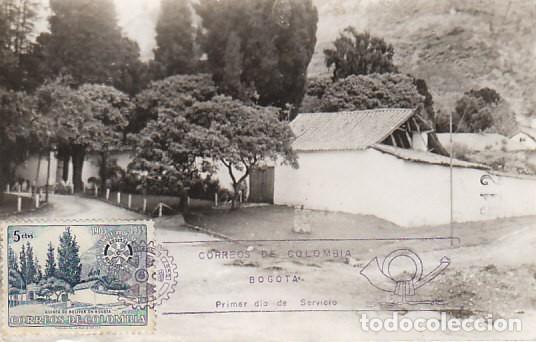 COLOMBIA, QUINTA DE BOLIVAR EN BOGOTA, TARJETA MÁXIMA DE 28-9-1955 (Sellos - Temáticas - Historia)