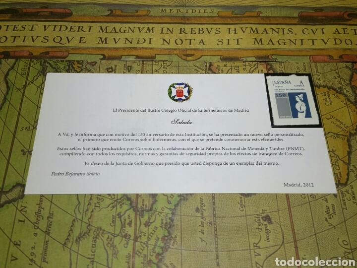 SELLO CONMEMORATIVO 150 AÑOS DEL ILUSTRE COLEGIO OFICIAL DE ENFERMERAS DE MADRID (Sellos - Temáticas - Historia)