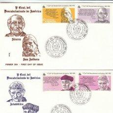 Sellos - EDIFIL 2860/5, V CENTENARIO DEL DESCUBRIMIENTO DE AMERICA, PRIMER DIA DE CORDOBA 15-10-1986 ALFIL - 138792482