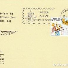 Sellos: EDIFIL 2784, FIESTA MOROS Y CRISTIANOS ALCOY (ALICANTE), PRIMER DIA DE 22-4-1985 IRIS MUNDUS. Lote 139431530
