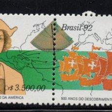 Sellos: BRASIL 2063A** - AÑO 1992 - AMERICA - UPAEP - 5º CENTENARIO DEL DESCUBRIMIENTO DE AMERICA. Lote 141676658