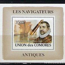 Sellos: COMORES 2008 HB *** NAVEGANTES - CRISTOVAL COLON. Lote 143050678