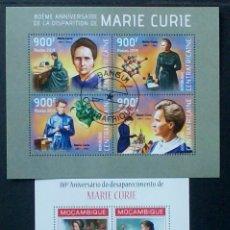 Sellos: MARIE CURIE 2 HOJAS BLOQUE DE SELLOS USADOS RECIENTES. Lote 143192278