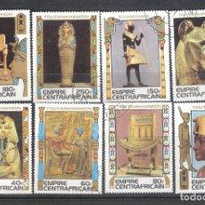 Sellos: IMPERIO CENTROAFRICANO Nº 354/61º SERIE COMPLETA. TUTANKHAMON. Lote 143202878