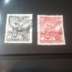 Sellos: SELLOS R. POLONIA (POLSKA) MTDOS/1952/FABRICA DE CEMENTO/INDUSTRIA/ECONOMIA/TRANAJOS/GRUA/PLUMA. Lote 143609346