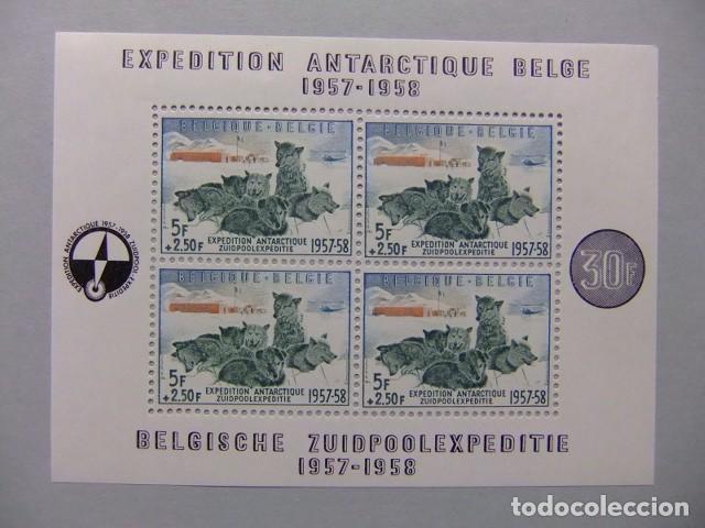 BELGIQUE BELGICA 1957 EXPÉDITION ANTARCTIQUE BELGE YVERT BLOC 31 ** MNH CATALOGO PRECIO 170€ (Sellos - Temáticas - Historia)