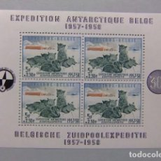 Sellos: BELGIQUE BELGICA 1957 EXPÉDITION ANTARCTIQUE BELGE YVERT BLOC 31 ** MNH CATALOGO PRECIO 170€. Lote 144059726