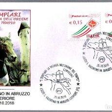 Sellos: MATASELLOS LOS TEMPLARIOS - ORDEN DEL TEMPLO. S.VALENTINO IN ABRUZZO CITERIORE, ITALIA, 2018. Lote 145155682