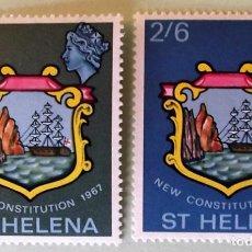 Sellos: SANTA HELENA. 181/82 NUEVA CONSTITUCIÓN. 1967. SELLOS NUEVOS Y NUMERACIÓN YVERT.. Lote 147802718