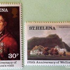 Sellos: SANTA HELENA. 330/31 ANIVERSARIO VISITA DE WELLINGTON: THE BRIARS Y RETROTA DE WELLINGTON. 1980. SEL. Lote 147802722