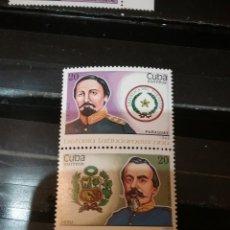 Sellos: SELLOS R. CUBA NUEVOS/1988/HISTORIA LATINOAMERICA/MILITARES/ANKMALES HERALDICOS/UNIFORMES/PARAGUAY/P. Lote 147916084