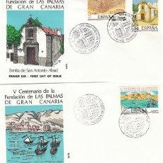 Sellos: EDIFIL 2477/9, V CENT FUNDACION PALMAS DE GRAN CANARIA, PRIME DIA ESPECIAL LAS PALMAS 23-6-1978 ALFI. Lote 148052726