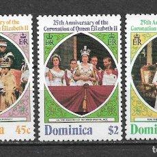 Sellos: DOMINICA 1978 SC 570-572 (3) 2.25 ** MNH - 7/16. Lote 148620750