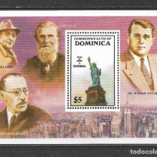 Sellos: DOMINICA 1986 ** MNH - CENT. ESTATUA DE LA LIBERTAD -124. Lote 148650622