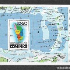 Sellos: DOMINICA 1978 ** MNH - MAPA DE DOMINICA -124. Lote 148655494