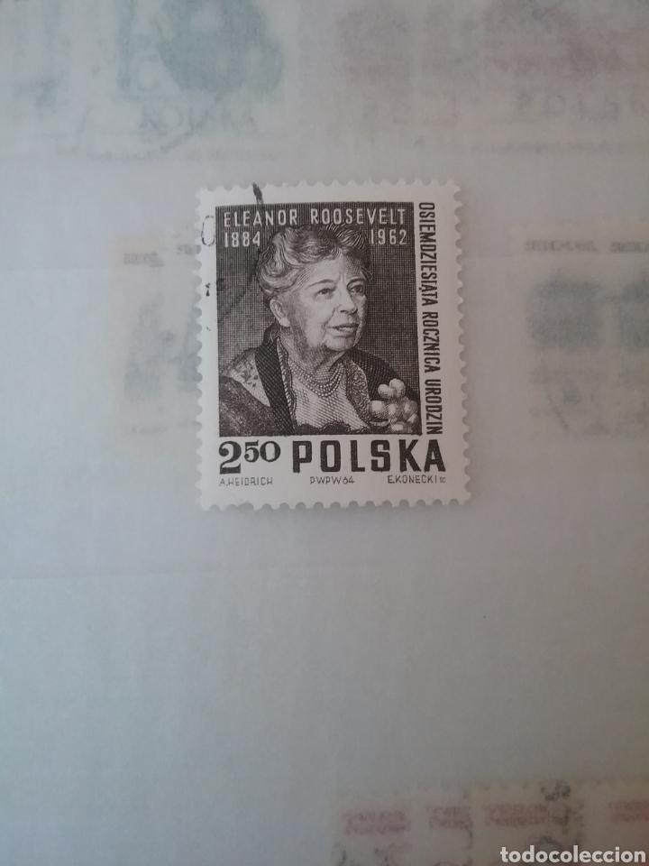 SELLOS R. POLONIA (POLSKA) MTDOS/1964/ELEANOR ROOSEVELT/PRIMERA DAMA DE EE.UU/FAMOSOS/MUJER (Sellos - Temáticas - Historia)