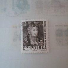 Sellos: SELLOS R. POLONIA (POLSKA) MTDOS/1964/ELEANOR ROOSEVELT/PRIMERA DAMA DE EE.UU/FAMOSOS/MUJER. Lote 150150258